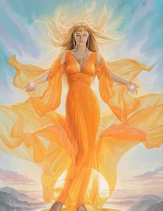 Theia or Thea - Is the daughter of Uranus and Gaia. She is the Titaness of sight and mother of Helios, Selene, and Eos otherwise known as the sun, moon and the dawn.