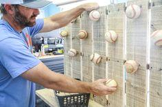 Baseball Hat Storage - Baseball Quotes Field Of Dreams - - Baseball Hat Racks, Best Baseball Player, Baseball Gifts, Braves Baseball, Baseball Quotes, Baseball Field, Diy Hat Rack, Baseball Tattoos, Baseball Cupcakes