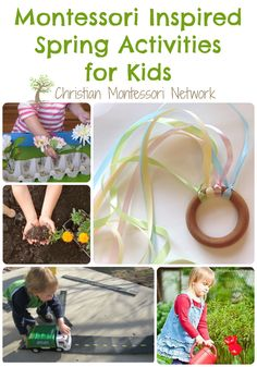 Some beautiful Montessori inspired spring activities for kids.