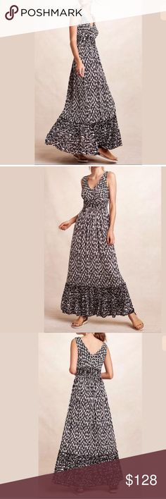 """NWT Anthropologie Seacoast Maxi Dress Sz S New With Tag Anthropologie Seacoast Maxi Dress Sz S From Plenty by Tracy Reese Rayon-spandex knit Slim maxi silhouette Pullover styling Hand wash Approx. measurements (unstretched): Length (shoulder to hem): 58"""" Bust (armpit to armpit): 17"""" Waist: 27"""" Model is 5'10"""" Anthropologie Dresses"""