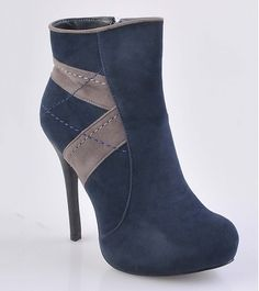 Issimo Shoes - Dark Blue Ankle Boots