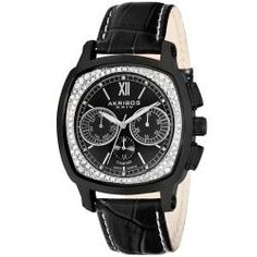 @Overstock.com - This Akribos XXIV luxury leather band men's watch from the Akribos Diamond Collection combines the sizzle of diamonds and the finesse of a fine dress watch. This exemplary timepiece is powered by a Swiss ISA 9238/1970 multifunction quartz movement.http://www.overstock.com/Jewelry-Watches/Akribos-XXIV-Mens-Multifunction-Diamond-Swiss-Quartz-Square-Strap-Watch/5337419/product.html?CID=214117 $89.44