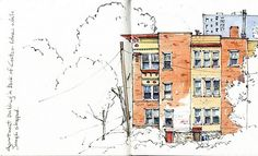 Urban Sketchers: ink and watercolor