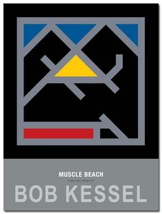 MUSCLE BEACH POSTER (Yellow Triangle) by bobkessel