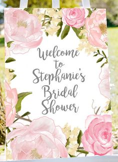 bridal shower welcome sign Welcome to bridal by Papierscharmants