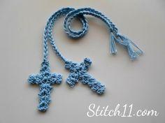 Free Crochet Cross Bookmark - link to free pattern Crochet Cross, Thread Crochet, Love Crochet, Crochet Motif, Crochet Coaster, Doilies Crochet, Crocheted Lace, Easy Crochet, Crochet Baby