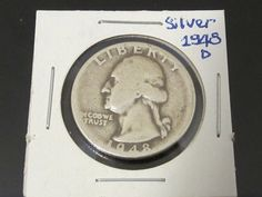 1948D Washington Quarter from 90 Silver by wandajewelry2013, $7.00