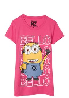 Despicable Me Bello Tee - Graphic Tees - Clearance - dELiA*s Disney Outfits, Girl Outfits, Fashion Outfits, Disney Clothes, Delias Clothing, Minion Outfit, Minion Shirts, Stylish Outfits, Cute Outfits
