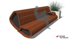 3D Model of Rouse Hill Park sofa 04