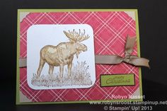 Walk in the Wild Christmoose www.robynsroost.stampinup.net