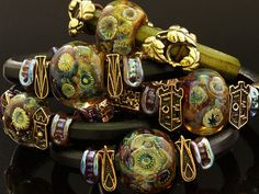 "Anna Black's beautiful handmade bracelet ""Behind the walls of a forgotten castle"" bit of history . Handmade Bracelets, Beaded Bracelets, Native American Indians, Lampwork Beads, Glass Beads, Jewelry Making, Bangles, Beadwork, Beading"