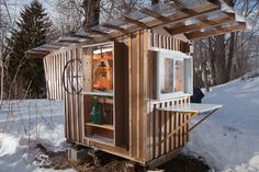 A micro-shelter in Stoughton, Mass. Photo: Erik Jacobs for The New York Times
