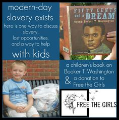 A Conversation on #Slavery, Lost Opportunity & an Act of Service for Free the Girls. Using a children's book and a bag of bras to donate to Free the Girls. #enditmovement #sharingmagic #bethechange
