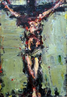 """ Crucifixion 1"" , oil on canvas, Łukasz Morawski"