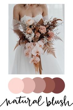 Floral inspired wedding color palettes — Tyler Made Lettering day checklist things to do Wedding color palettes Blush Wedding Colors, Wedding Color Pallet, Winter Wedding Colors, Wedding Color Schemes, Floral Wedding, Wedding Bouquets, Wedding Flowers, Wedding Color Palettes, Color Themes For Wedding
