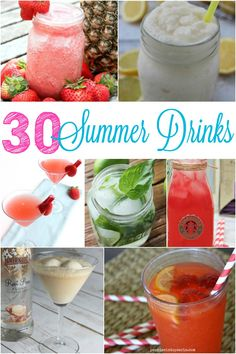 Need some summertime drink inspiration? These summer drink recipes are perfect for those hot days or family parties.