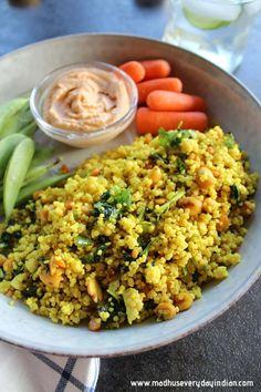 Millet Lemon Rice | Foxtail Millet Lemon Rice | Madhu's Everyday Indian Veggie Recipes, Vegetarian Recipes, Healthy Recipes, Tasty Meals, Vegan Meals, Rice Recipes, Healthy Foods, Healthy Eating, Vegetarian Cooking