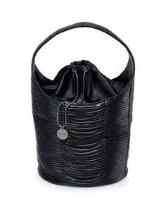 L0N9J TOM FORD Miranda Ruched Leather Hobo Bag, Black