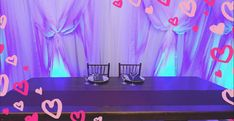 Our new backdrop illuminated only by the uplighting. Wedding Accessories, Backdrops, Success, Weddings, Wedding, Backgrounds, Marriage, Mariage