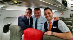 Jet Blue Crew on the Boston Red Sox Jet Blue Plane