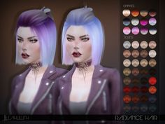 The Sims Resource: LeahLillith Radiance Hair • Sims 4 Downloads