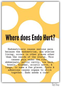 Places endo can hurt