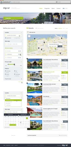 MyVR Responsive multi-property website template - Search  by Sylvain Lafitte
