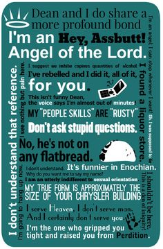 supernatural quotes | Supernatural - Castiel Quotes Art Print by natabraska | Society6
