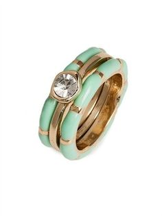 ShopStyle: BaubleBar Mint Solitaire Rings