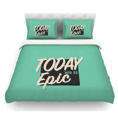 East Urban Home Epic Day by Juan Paolo Vintage Featherweight Duvet Cover Size: Queen