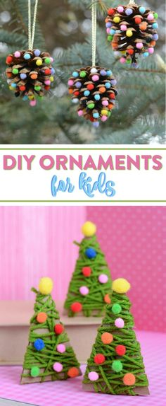 Today I'm going to show you these wonderful DIY Christmas Ornament Crafts for Kids perfect to have them make to display on your tree.