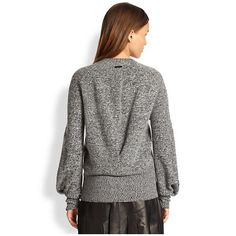 Burberry London Women's Back-Drape Merino Wool Sweater | Ogfabsite