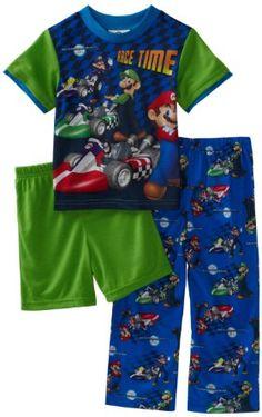 89b14470a5 Amazon.com  AME Sleepwear Boys 2-7 Mario Kart Trouble 2 Piece Pajama Set   Clothing