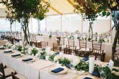 Grace Kim Floral & Event Design  Castle Hill Inn wedding - Bay leaf and eucalyptus garland photo by Michelle Gardella