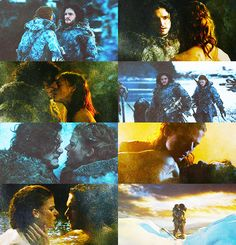 jon snow and ygritte *cries* Ygritte And Jon Snow, Anima And Animus, Hbo Tv Series, Game Of Thrones 3, Spade, Romantic Things, Valar Morghulis, Great Love, Winter Is Coming