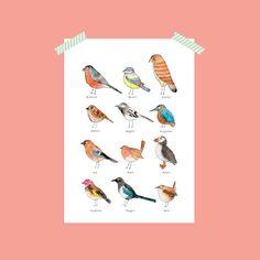 Nova and Me A4 Birds Print – And so to Shop Jungle Art, Family Wall Art, Bird Silhouette, Elephant Head, Halloween Prints, Hello Autumn, New Home Gifts, Bird Prints, Map Art
