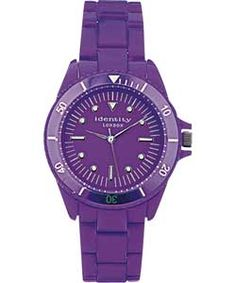 Identity London Purple Unisex Watch.