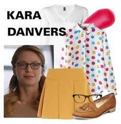 Kara Danvers by nitas-corner on Polyvore featuring polyvore fashion style Eleventy See by Chloé Steve Madden Fendi Charlotte Tilbury clothing