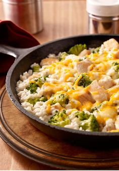 Easy Chicken and Broccoli – Grab a pan. It only takes one to whip up this dish of chicken, rice and broccoli—and to show the family how warm and comfy eating smart can be.