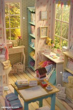 ♡  Handmade miniature diorama  CANDY COLOR BOUTIQUE Shop  ♡