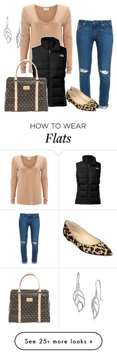 """Untitled #98"" by mysterious-chocolate-fox on Polyvore featuring Paige Denim, American Vintage, The North Face, Ivanka Trump, GUESS and Lord & Taylor"