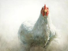 Sold | Witje the Chicken, oil/canvas 12 x 16 inch (30 x 40 cm) © 2010 Klimas