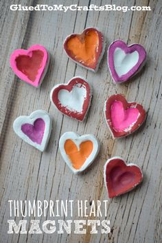 Thumbprint Heart Magnets.     - Repinned by Totetude.com