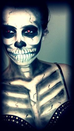 skeleton chest makeup - Google Search