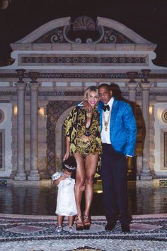Jay-Z, Beyonce, and Blue Ivy.