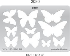 3D Butterfly Template | butterfly 2 template i 2080 more butterfly shapes pretty strong and ...