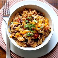 Pressure-Cooker Chicken, Black Bean And Rice Burrito Bowls