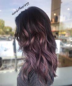 Purple balayage ombré   purple hair   metallic purple   elizabethashleyy