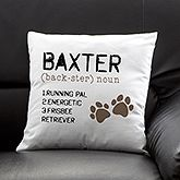 Definition of My Dog Personalized Pillow - Entertaining & Home Gifts - Entertaining & Home Gifts