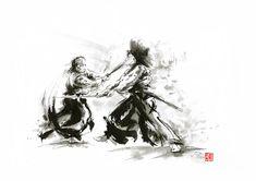 samurai-sword-bushido-katana-martial-arts-budo-sumi-e-original-ink-sword-painting-artwork-mariusz-szmerdt.jpg (900×635)